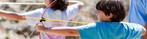 Camper doing archery