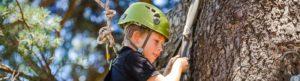 Camper climbing