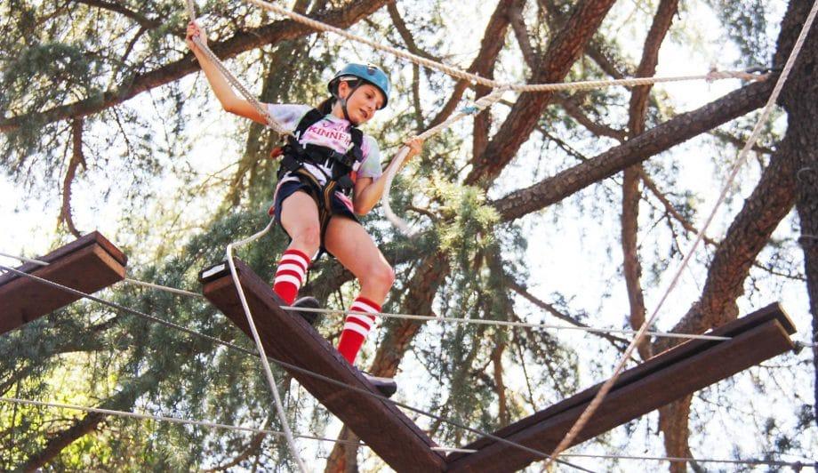 Camper on High Rope