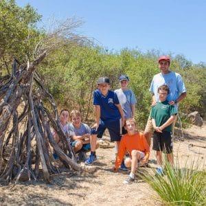 Campers on outdoor adventure