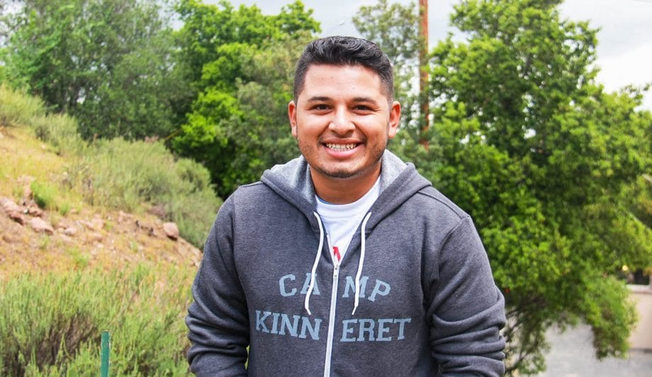 Male in Camp Kinneret Sweater